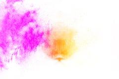 Покрашенный порошок splatted на белой предпосылке Стоковые Фото