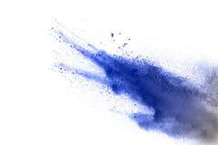Покрашенный порошок splatted на белой предпосылке Стоковое фото RF