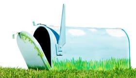 покрашенный почтовый ящик руки Стоковое Изображение