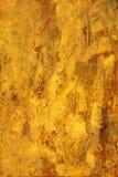 покрашенный предпосылкой желтый цвет текстуры Стоковая Фотография RF