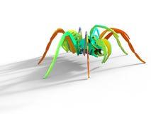 Покрашенный радугой паук головоломки 3D Стоковые Изображения