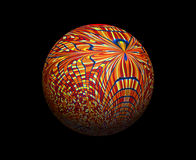 Покрашенный тон красного цвета сфер Стоковая Фотография RF