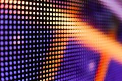 Покрашенный фиолетовый и желтый экран smd СИД Стоковые Фотографии RF
