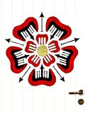 Покрашенный цветок на двери стоковые изображения rf
