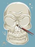 Покрашенный череп Стоковые Изображения RF