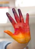 Покрашенный человеческий фотоснимок руки Стоковая Фотография RF
