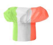 покрашенный шеф-повар красит шлем флага итальянским Стоковое Изображение
