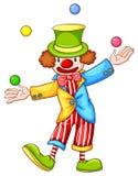 Покрашенный эскиз клоуна жонглируя Стоковая Фотография RF