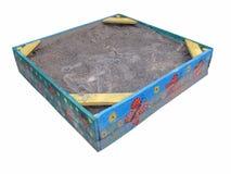 Покрашенный ящик с песком Стоковое Фото