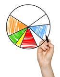 покрашенный диаграммой расстегай диаграммы Стоковые Фото