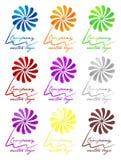покрашенный 3d логос цветка стоковое фото rf
