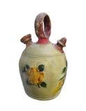 Покрашенный Antique изолированный кувшин crockery. стоковое изображение