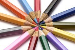 Покрашенный crayon Стоковое Фото