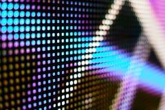 Покрашенный cyan и коричневый экран smd СИД Стоковое Изображение