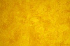 покрашенный faux желтый цвет стены Стоковое Фото