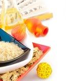 покрашенный multi рис плит Стоковые Фото