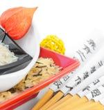 покрашенный multi рис плит Стоковые Изображения