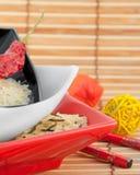 покрашенный multi рис плит Стоковое Фото