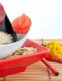 покрашенный multi рис плит Стоковая Фотография RF