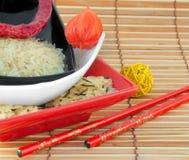 покрашенный multi рис плит Стоковые Фотографии RF