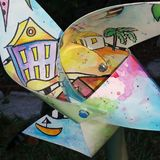 Покрашенный pinwheel Стоковые Фотографии RF