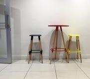 3 покрашенных барного стула Стоковое фото RF