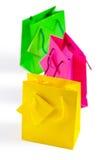 3 покрашенных бумажных мешка Стоковые Фото