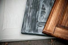 3 покрашенных деревянных стола Стоковая Фотография RF