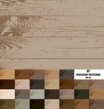 27 покрашенных деревянных текстур иллюстрация вектора