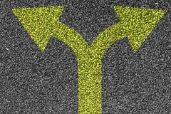2 покрашенных желтых стрелки Стоковые Фото