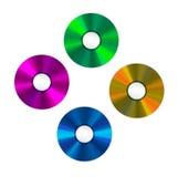 4 покрашенных компакт-диска Стоковое фото RF