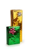 2 покрашенных красивых коробки с подарками Стоковое фото RF