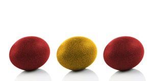 3 покрашенных пасхального яйца Стоковые Фото