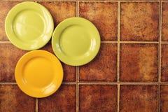 3 покрашенных плиты Стоковые Фотографии RF