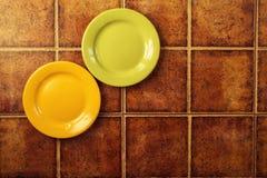 2 покрашенных плиты Стоковая Фотография