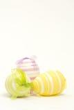 3 покрашенных рукой пасхального яйца Стоковая Фотография
