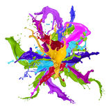 Покрашено брызгает в абстрактной форме бесплатная иллюстрация