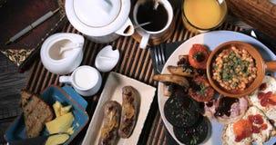 Покройте вниз с взгляда сваренного английского завтрака Стоковые Фотографии RF