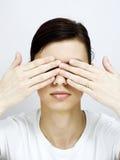 Покройте глаза Стоковое Изображение RF