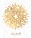 Покройте золото тайского элемента искусства традиционное на белой предпосылке бесплатная иллюстрация