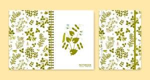 Покройте дизайн для тетрадей или scrapbooks с заводами бобов бесплатная иллюстрация