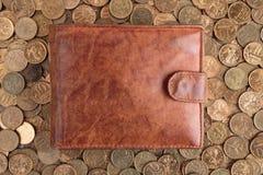 покройте кожей бумажник Стоковые Фото