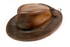 Покройте кожей шлем ковбоя Стоковое Фото