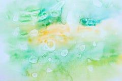 Покройте краской текстуру, предпосылку цвета акварели, выплеск краски акварели иллюстрация штока