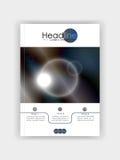 Покройте круги дизайна футуристические с синим ба цветов металла Стоковое Фото