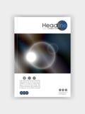 Покройте круги дизайна футуристические с синим ба цветов металла Стоковые Фото