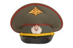покройте русского офицера армии Стоковые Изображения