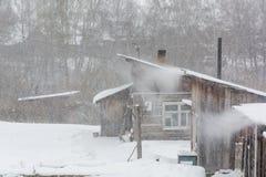 Покройте с белым снегом Стоковые Изображения RF