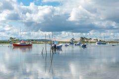 Покройте фретку, Францию, взгляд над дюной Pyla Стоковое Фото