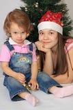 покрывает новый год сестер Стоковые Фотографии RF